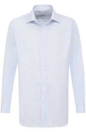 Мужская хлопковая сорочка с воротником кент BRIONI светло-голубого цвета, арт. RCL96C/P707T | Фото 1