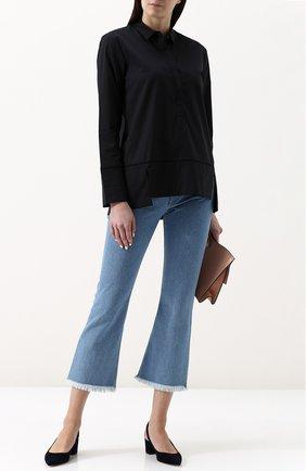 Женская однотонная хлопковая блуза свободного кроя  Van Laack, цвет черный, арт. TORY-PB_160127_SS18 в ЦУМ | Фото №1
