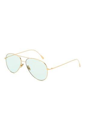 Женские солнцезащитные очки CUTLERANDGROSS золотого цвета, арт. 1266GPL/DPLBL | Фото 1