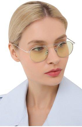 Женские солнцезащитные очки CUTLERANDGROSS светло-зеленого цвета, арт. 1268PPL/DPGN | Фото 2