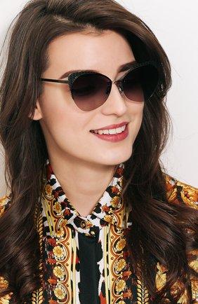 Солнцезащитные очки BVLGARI темно-серые | Фото №1