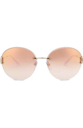 Солнцезащитные очки BVLGARI светло-розовые   Фото №3