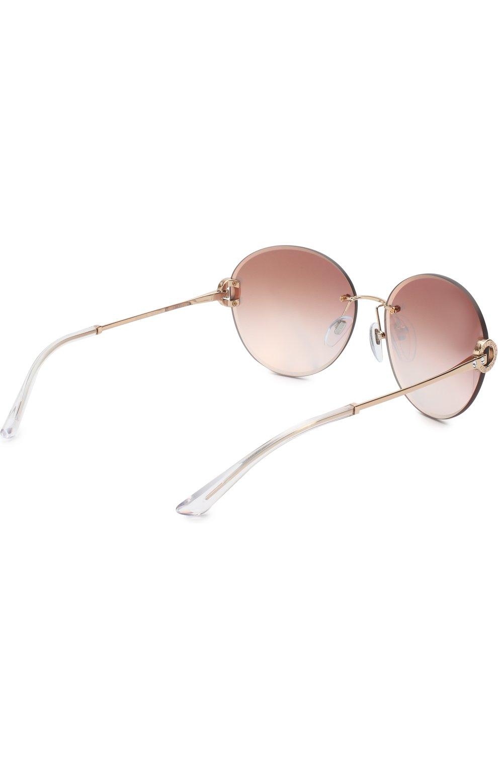 Солнцезащитные очки BVLGARI светло-розовые   Фото №4