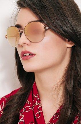 Солнцезащитные очки BVLGARI светло-розовые | Фото №1