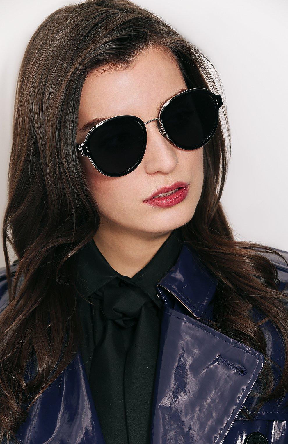 Женские солнцезащитные очки DIOR черного цвета, арт. DI0RCELESTIAL 807   Фото 2
