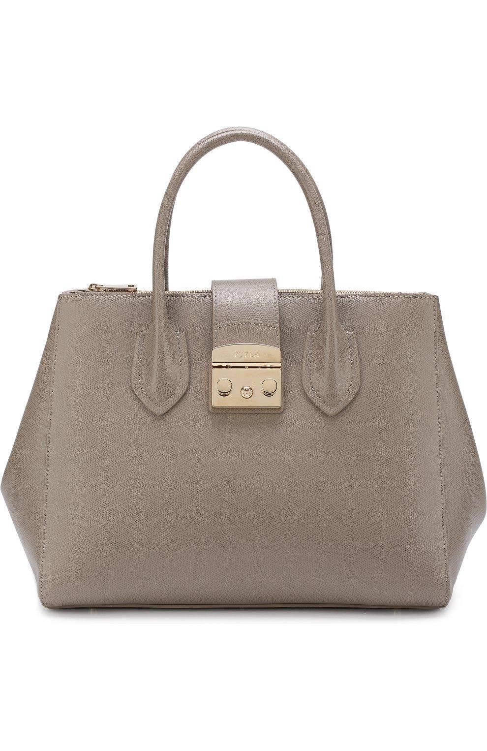 Женская сумка-тоут metropolis FURLA серого цвета — купить за 27500 ... e714cf3dd11