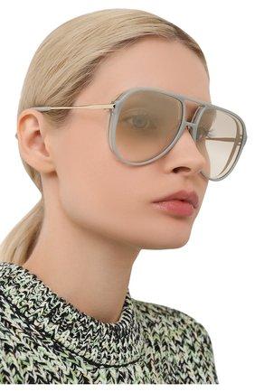 Женские солнцезащитные очки CHRISTIAN ROTH светло-серого цвета, арт. ARMER/00090   Фото 2