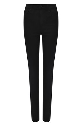 Однотонные джинсы прямого кроя Paige черные   Фото №1