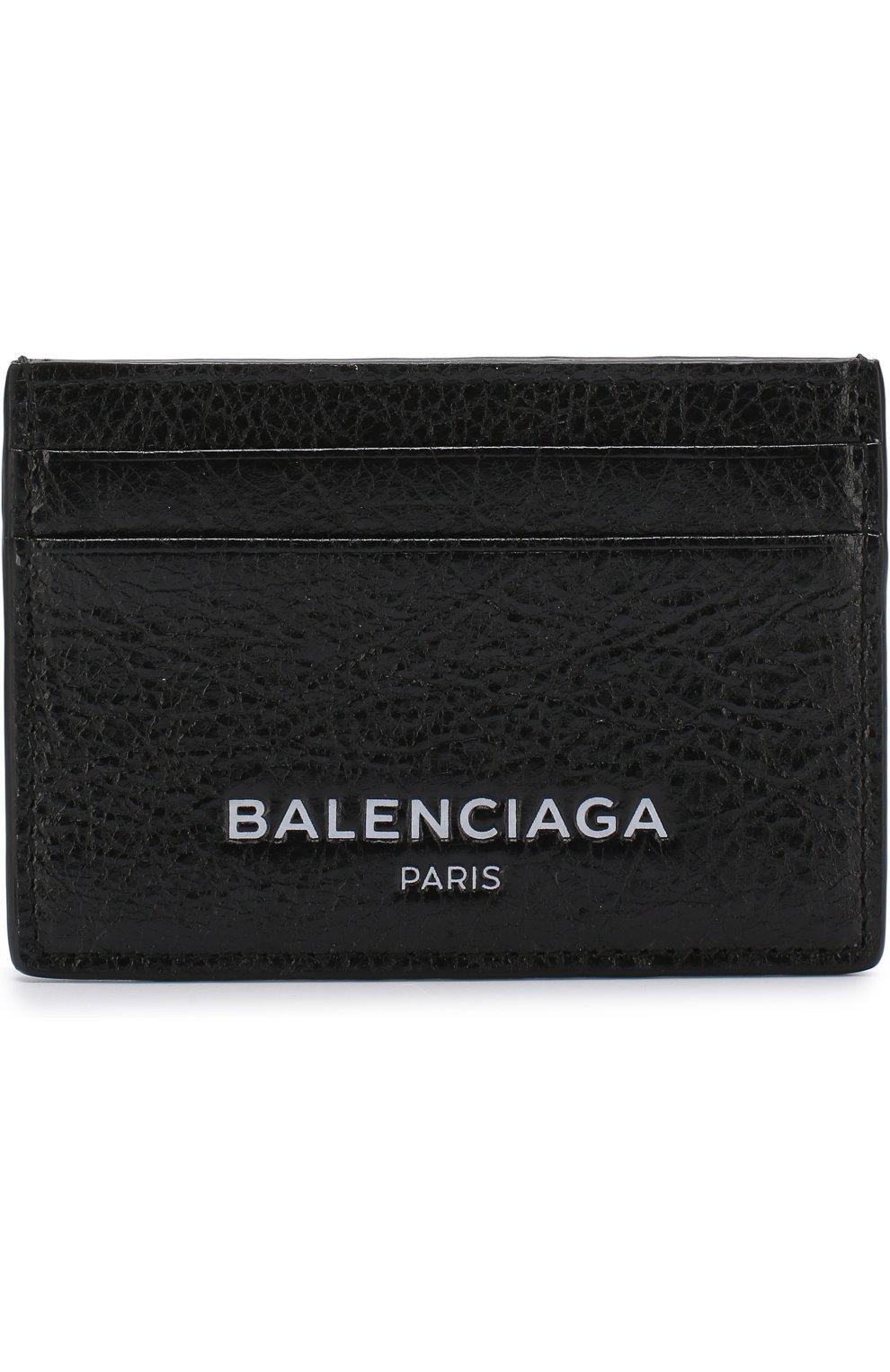 7abc257b88f9 Кожаный футляр для кредитных карт BALENCIAGA черного цвета — купить ...