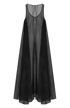 Шелковое полупрозрачное платье свободного кроя  | Фото №1