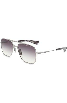 Мужские солнцезащитные очки DITA серебряного цвета, арт. FLIGHT-SEVEN/01 | Фото 1
