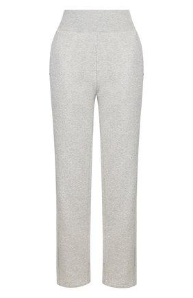 Хлопковые брюки прямого кроя с карманами adidas by Stella McCartney серого цвета | Фото №1