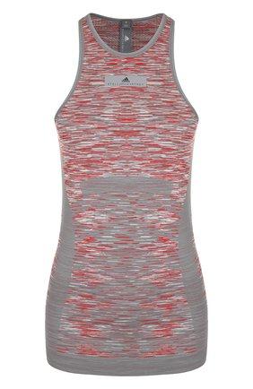 Спортивный топ с открытыми плечами  adidas by Stella McCartney разноцветного цвета | Фото №1
