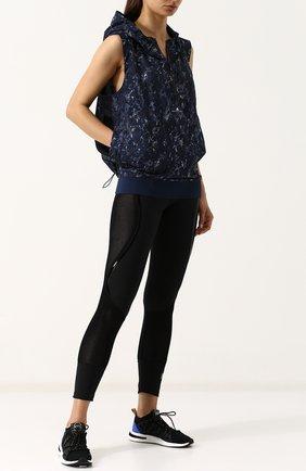 Спортивный жилет с капюшоном и принтом adidas by Stella McCartney разноцветного цвета | Фото №1