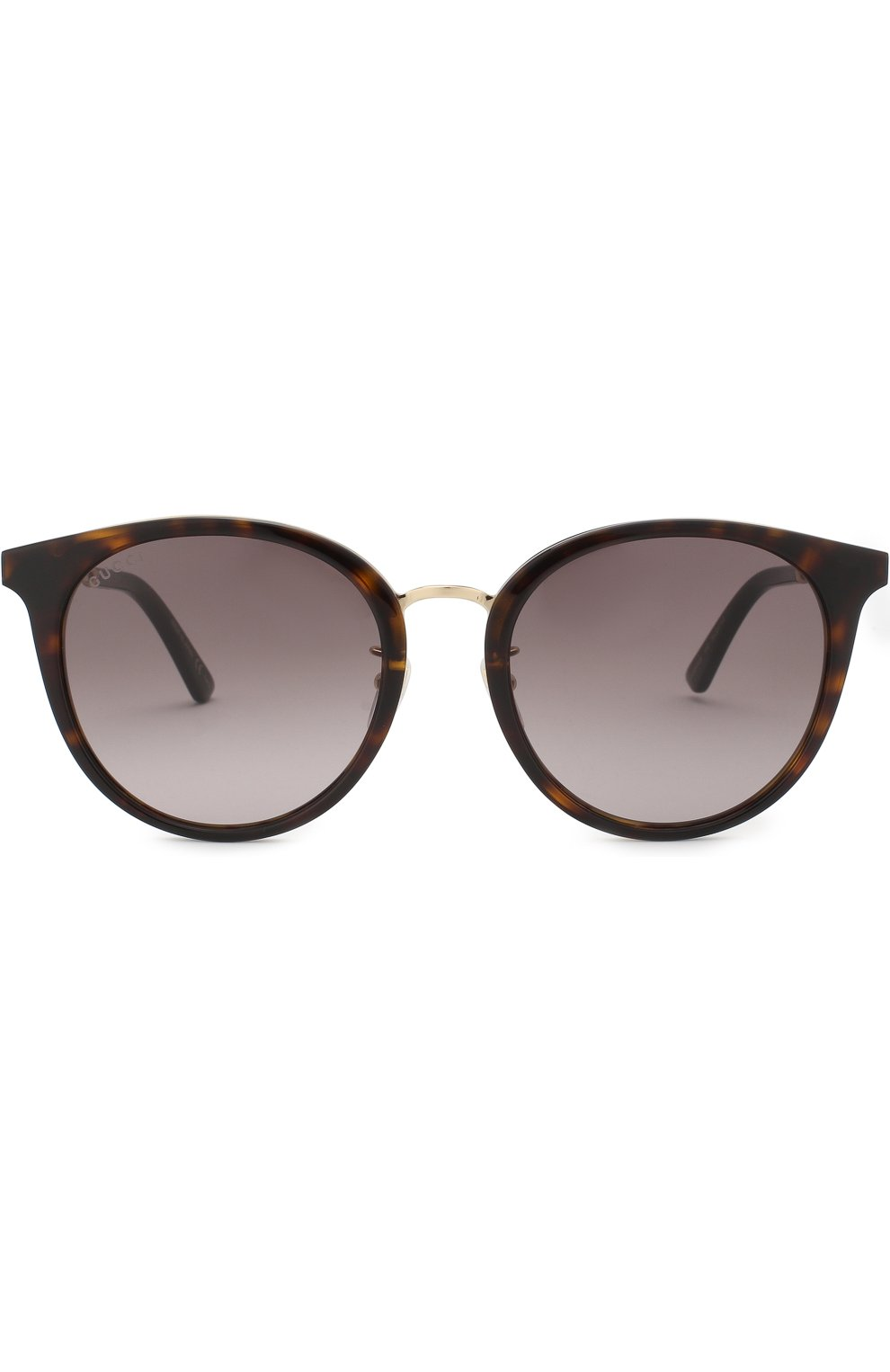 Женские солнцезащитные очки GUCCI коричневого цвета, арт. GG0204SK 002 | Фото 3