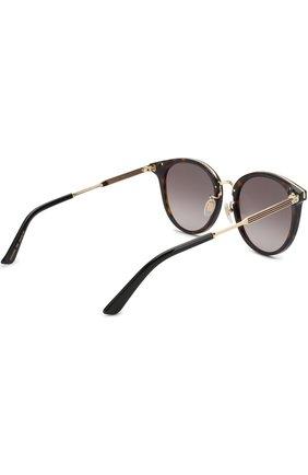 Женские солнцезащитные очки GUCCI коричневого цвета, арт. GG0204SK 002 | Фото 4