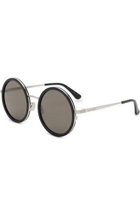 Женские солнцезащитные очки SAINT LAURENT серебряного цвета, арт. SL 136 C0MBI 001 | Фото 1