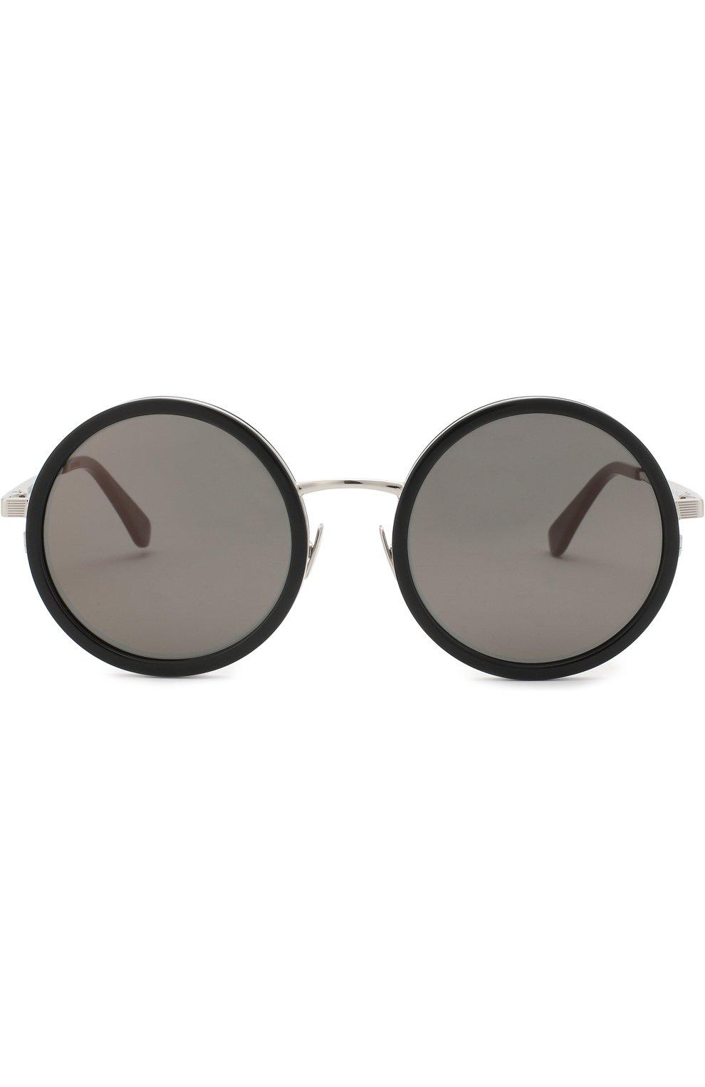 Женские солнцезащитные очки SAINT LAURENT серебряного цвета, арт. SL 136 C0MBI 001 | Фото 2