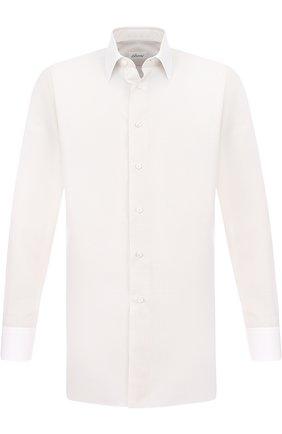 Мужская хлопковая сорочка с воротником кент BRIONI кремвого цвета, арт. RCL96B/P707V | Фото 1