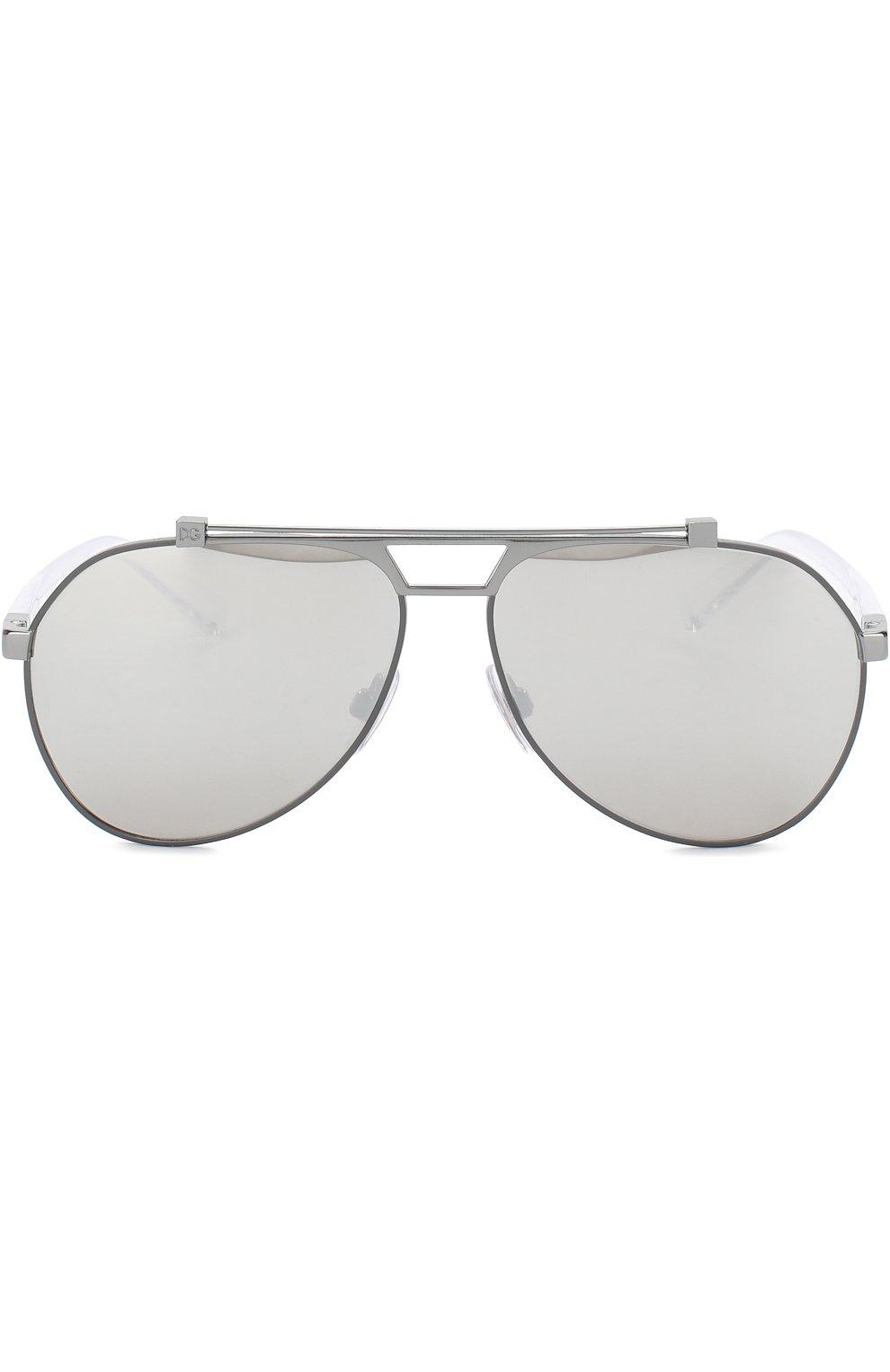 Мужские солнцезащитные очки DOLCE & GABBANA серебряного цвета, арт. 2189-04/6G   Фото 2