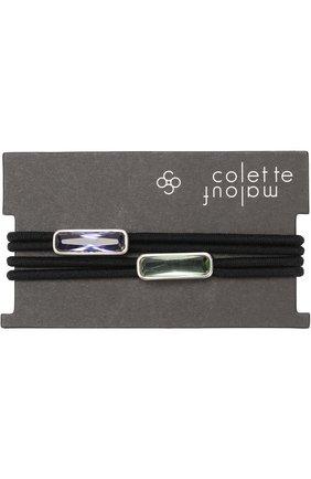 Набор из двух резинок для волос Colette Malouf серебряного цвета | Фото №1