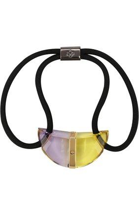 Резинка для волос с декоративным элементом Colette Malouf желтого цвета | Фото №1