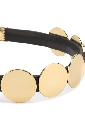 Повязка с металлической отделкой Colette Malouf золотого цвета | Фото №1