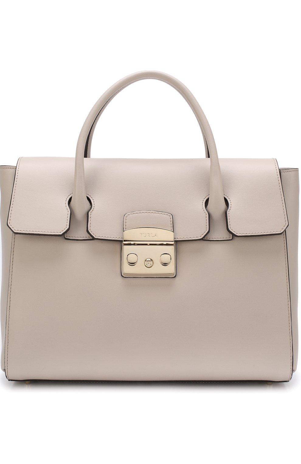 Женская сумка-тоут metropolis FURLA бежевого цвета — купить за 32500 ... 4f76d52439b