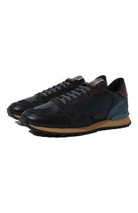 Мужские комбинированные кроссовки rockrunner VALENTINO темно-синего цвета, арт. QY2S0723/TCC | Фото 1
