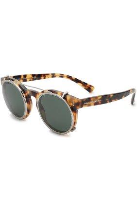 Солнцезащитные очки Valentino коричневые | Фото №1