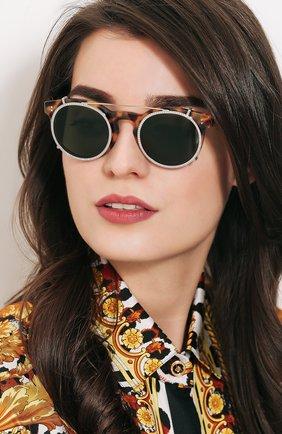 Солнцезащитные очки Valentino коричневые | Фото №2