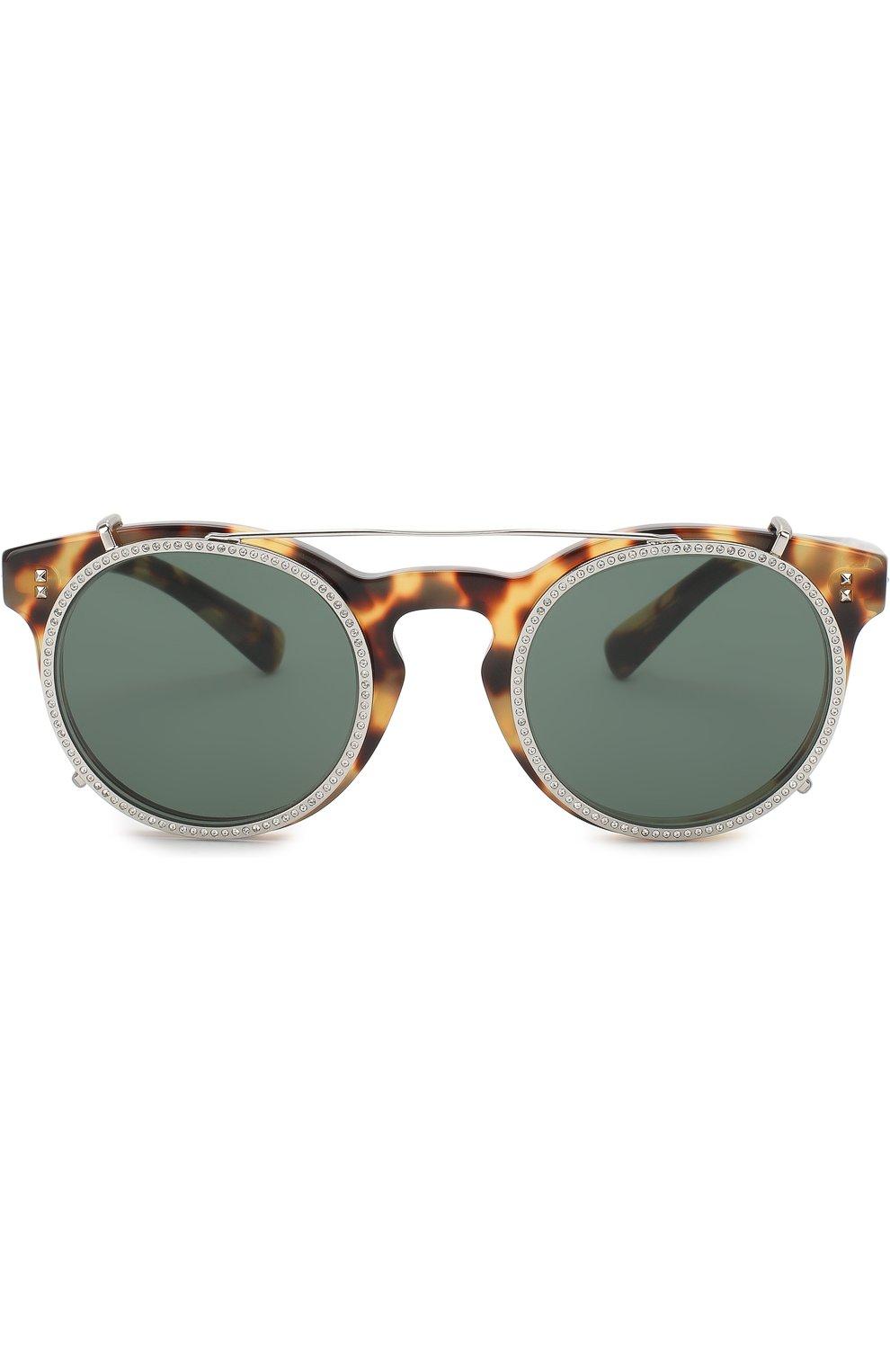 Солнцезащитные очки Valentino коричневые | Фото №3