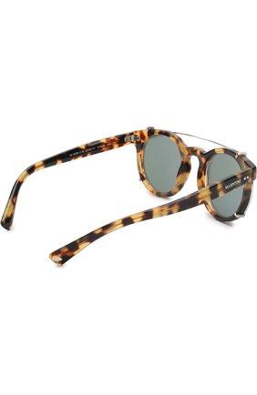 Солнцезащитные очки Valentino коричневые | Фото №4