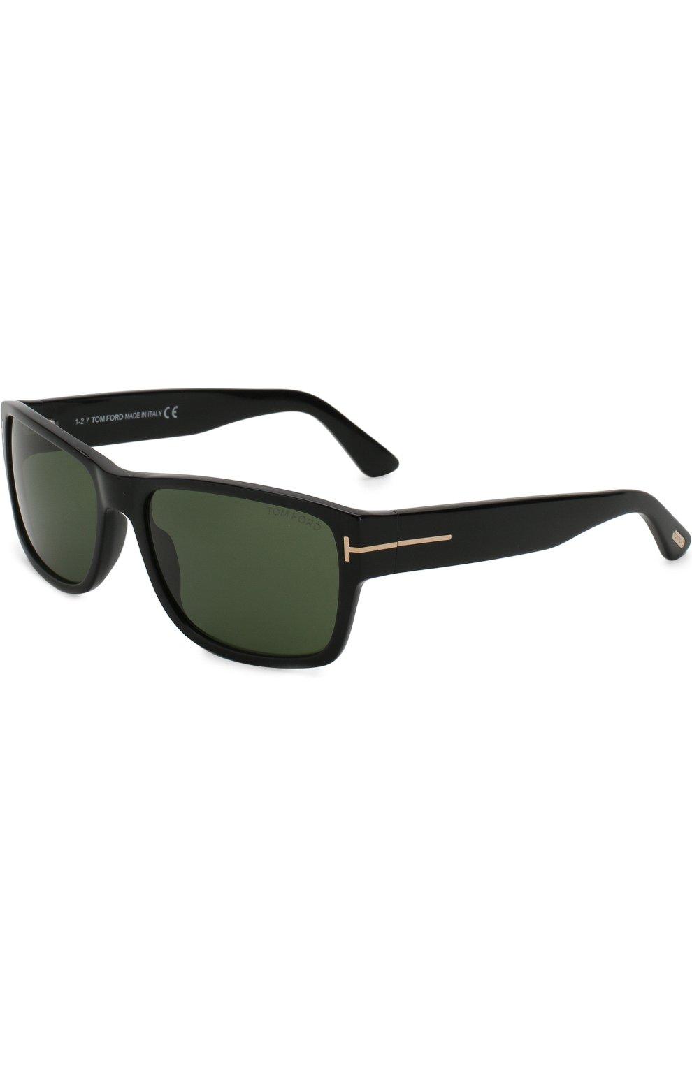 Мужские солнцезащитные очки TOM FORD черного цвета, арт. TF445 01N   Фото 1