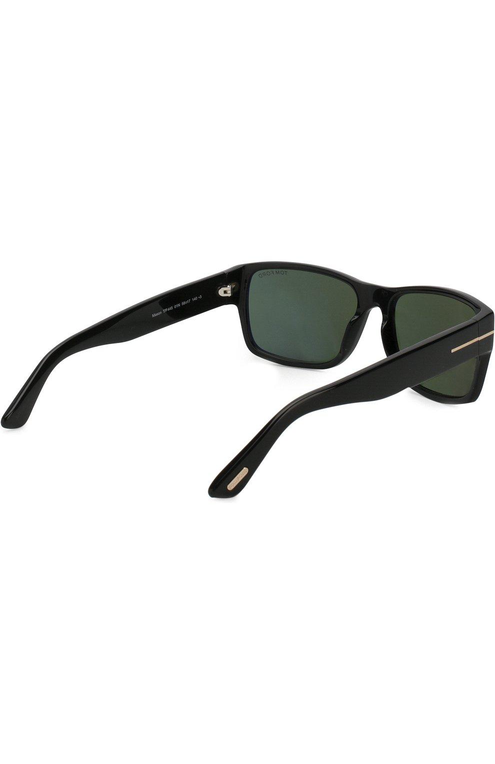 Мужские солнцезащитные очки TOM FORD черного цвета, арт. TF445 01N   Фото 3