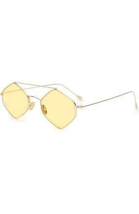 Женские солнцезащитные очки SPEKTRE желтого цвета, арт. RIGAUT 02AFT | Фото 1 (Статус проверки: Проверена категория; Тип очков: С/з; Оптика Гендер: оптика-унисекс; Очки форма: Круглые, Креативные)