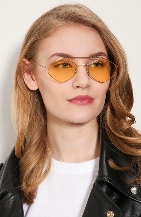 Женские солнцезащитные очки SPEKTRE желтого цвета, арт. RIGAUT 02AFT | Фото 2 (Статус проверки: Проверена категория; Тип очков: С/з; Оптика Гендер: оптика-унисекс; Очки форма: Круглые, Креативные)