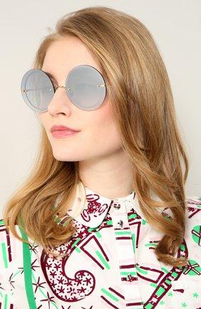 Женские солнцезащитные очки SPEKTRE голубого цвета, арт. NARCIS0 02BFT | Фото 2