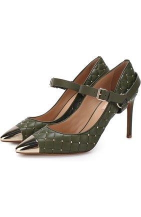 Кожаные туфли Valentino Garavani Rockstud Spike на шпильке | Фото №1