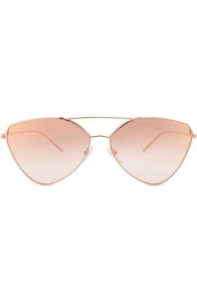 Солнцезащитные очки Prada золотые   Фото №3