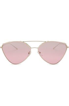 Солнцезащитные очки Prada золотые | Фото №3