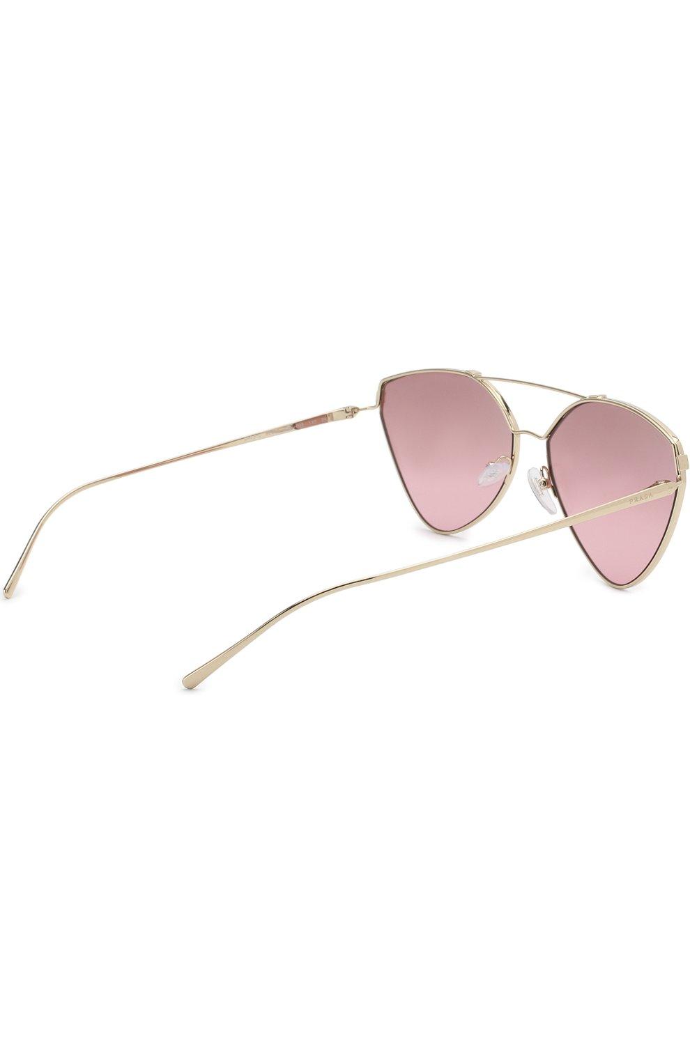 Солнцезащитные очки Prada золотые | Фото №4
