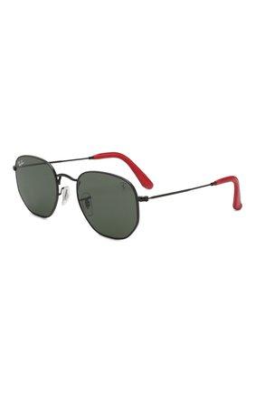 Мужские солнцезащитные очки RAY-BAN черного цвета, арт. 3548NM-F00931 | Фото 1 (Статус проверки: Проверена категория, Требуются правки; Тип очков: С/з; Очки форма: Прямоугольные, Круглые; Оптика Гендер: оптика-унисекс)