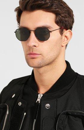 Мужские солнцезащитные очки RAY-BAN черного цвета, арт. 3548NM-F00931 | Фото 2 (Статус проверки: Проверена категория, Требуются правки; Тип очков: С/з; Очки форма: Прямоугольные, Круглые; Оптика Гендер: оптика-унисекс)