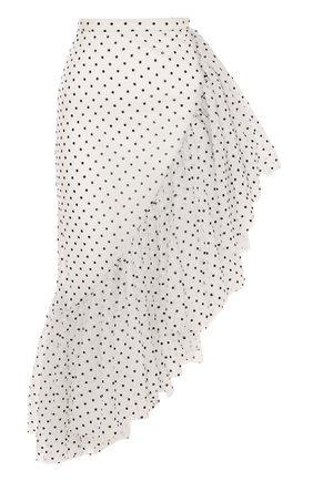 Юбка-миди асимметричного кроя с оборкой | Фото №1