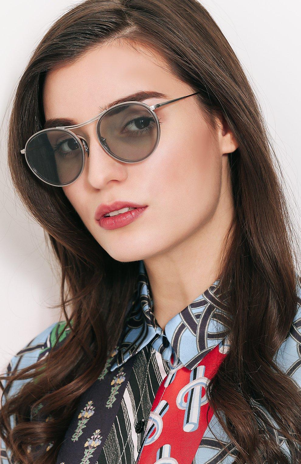 Солнцезащитные очки Oliver Peoples светло-серые | Фото №2
