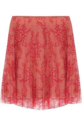 Кружевная юбка свободного кроя с шелковым подкладом | Фото №1