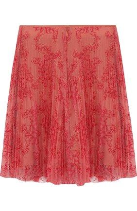 Кружевная юбка свободного кроя с шелковым подкладом | Фото №2