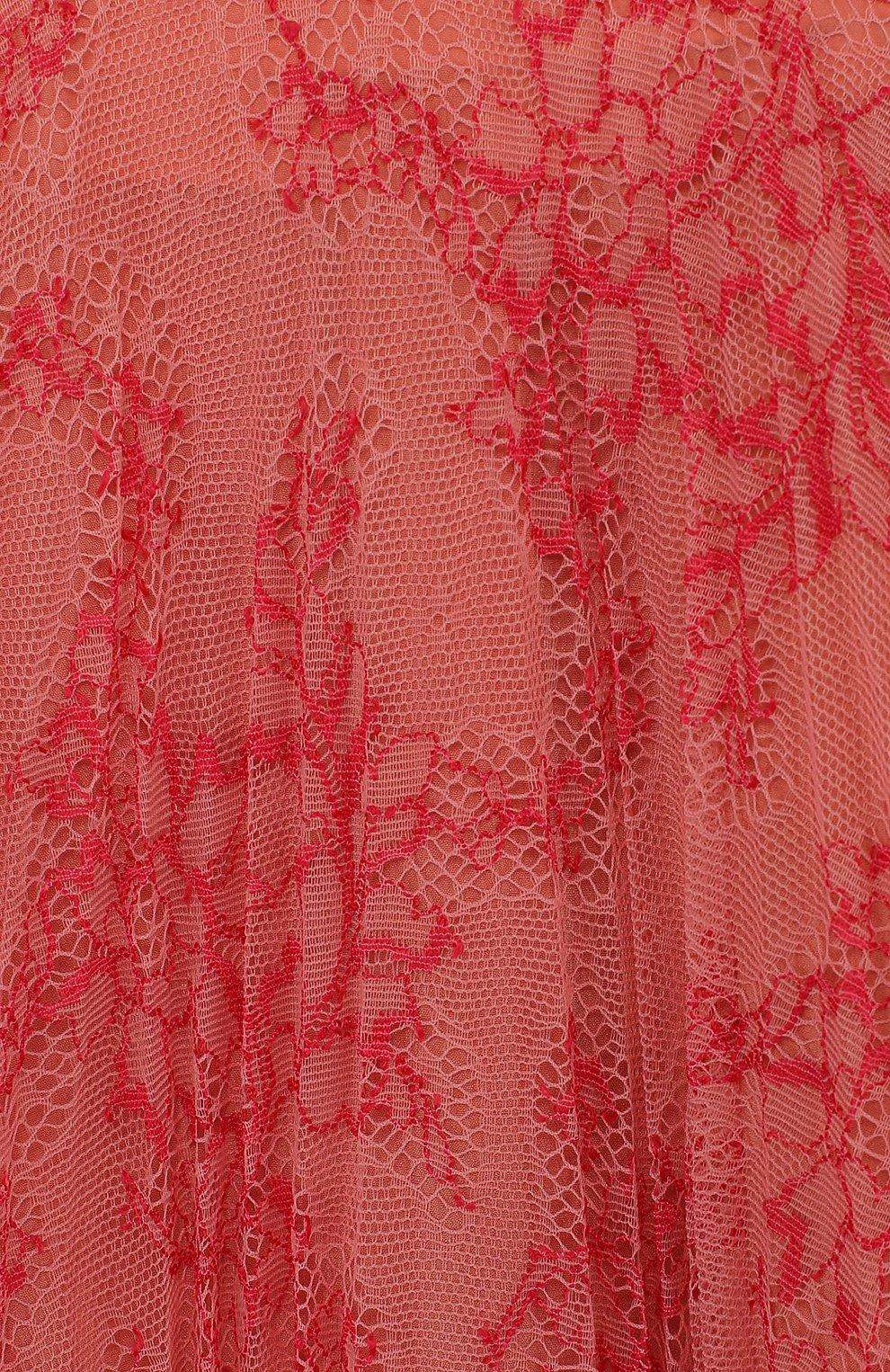 Кружевная юбка свободного кроя с шелковым подкладом | Фото №3
