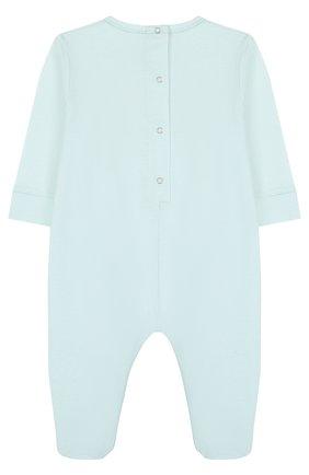 Детский хлопковая пижама с логотипом бренда GUCCI голубого цвета, арт. 504123/X3L64 | Фото 2